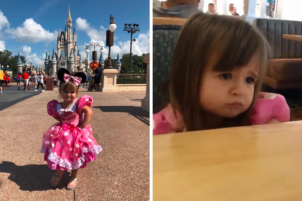 Menina chama atenção na internet após reclamar da ausência de cuscuz no cardápio da Disney