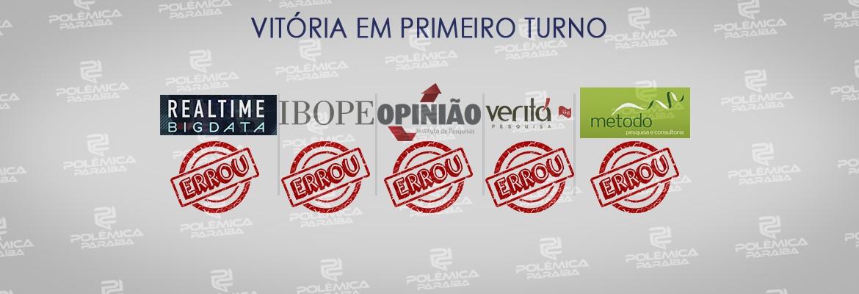 pesquisa urnas primeiro turno - PESQUISA X URNAS: Pesquisas apontavam que iria haver segundo turno pra governador na Paraíba