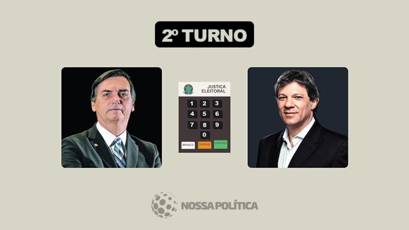 PRIMEIRA PESQUISA: Haddad cresce 16% em relação ao resultado do 1º turno, mas Bolsonaro está com 8 pontos na frente