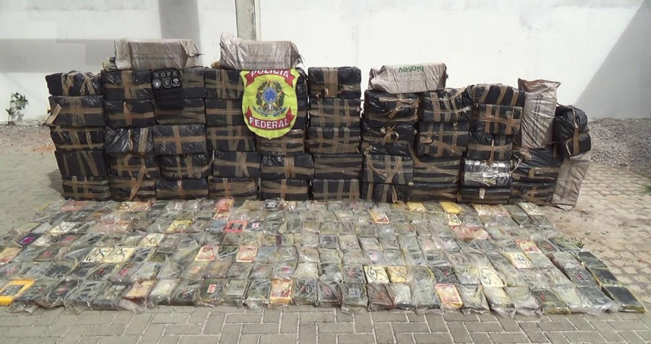 COCA - Polícia Federal apreende 5 toneladas e meia de cocaína no nordeste: VEJA VÍDEO