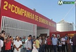Ricardo inaugura Companhia do Corpo de Bombeiros de Sapé