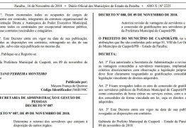 Prefeitura da Paraíba suspende pagamentos e exonera todos os servidores contratados e comissionados