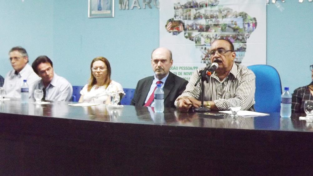 Liberalino Ferreira presidente da Fetag fez a abertura dos trabalhos - Deputado Jeová afirma que a questão da agricultura familiar será uma das principais pautas a serem trabalhadas em seu próximo mandato