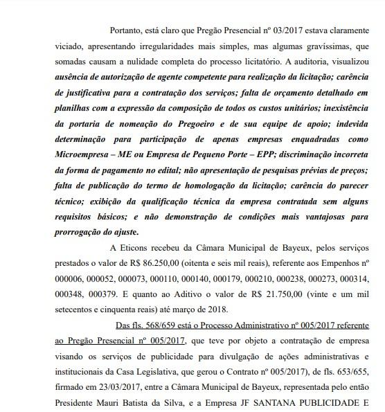 PROCESSO NOQUINHA - MPPB pede a condenação de Noquinha por irregularidades em contratos de publicidade na Câmara Municipal de Bayeux