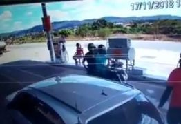 VEJA VÍDEO: bandidos assaltam posto de combustível na Paraíba