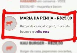 'RepOLHO ROXO': Hamburgueria cria lanche e batiza com nome da lei Maria da Penha
