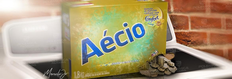 montagem300 - A IRONIA ESTAVA PRONTA: Dinheiro sujo de Aécio vinha dentro de caixa de sabão em pó