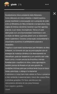 naom 5bdb39e59c2f8 182x300 - Gisele Bündchen faz apelo a Bolsonaro e fala em 'caminho sem volta'