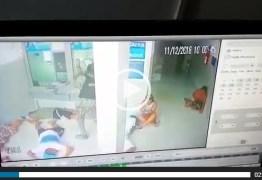 Câmera de segurança registra bandidos usando marreta para quebrar vidro e roubar dinheiro da casa lotérica de Pitimbu: VEJA VÍDEO