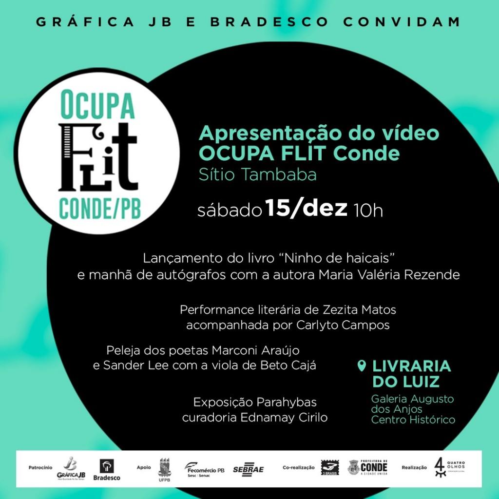 Mostra Ocupa Flit 1 - Mostra Ocupa Flit Conde acontece no sábado com lançamento do livro de Maria Valéria Rezende