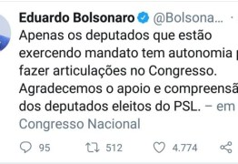 CRISE BOLSONARISTA: Eduardo Bolsonaro desautoriza 'deputados eleitos'