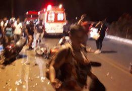 Um homem morre e casal fica ferido em colisão de motos na PB-008