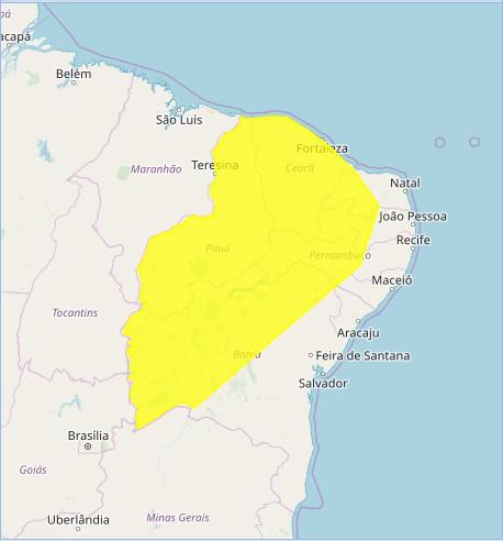 alerta de chuvas   inmet - Instituto de Meteorologia prevê chuva forte em mais de 100 cidades da Paraíba
