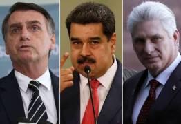 Após pedido de Bolsonaro, Brasil desconvida Cuba e Venezuela para posse