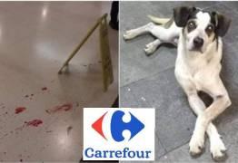 IMAGENS FORTES: Segurança do Carrefour é acusado de matar cachorro a pauladas e causa revolta nas redes sociais