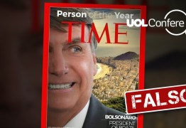 """NOTÍCIA FALSA: Jair Bolsonaro não foi eleito Personalidade do Ano pela revista """"Time"""""""