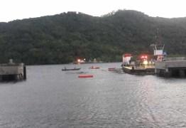 Marinha investiga acidente com carro em balsa de Bertioga