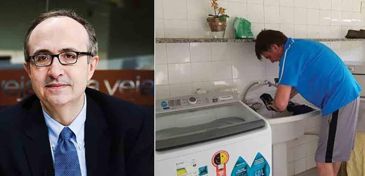 reinaldo bolsonaro - Jornalista diz que Bolsonaro lavando roupa é 'demagogia populista'
