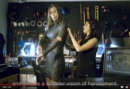 Vestido calcula quantas vezes a mulher é apalpada: VEJA VÍDEO