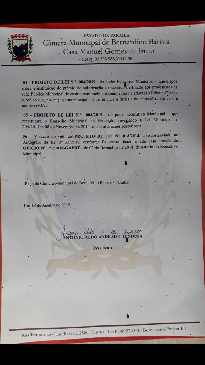22012019083234 lei1 - Prefeito Gervásio Gomes deve pagar acima do mínimo nacional e 14º salário aos professores