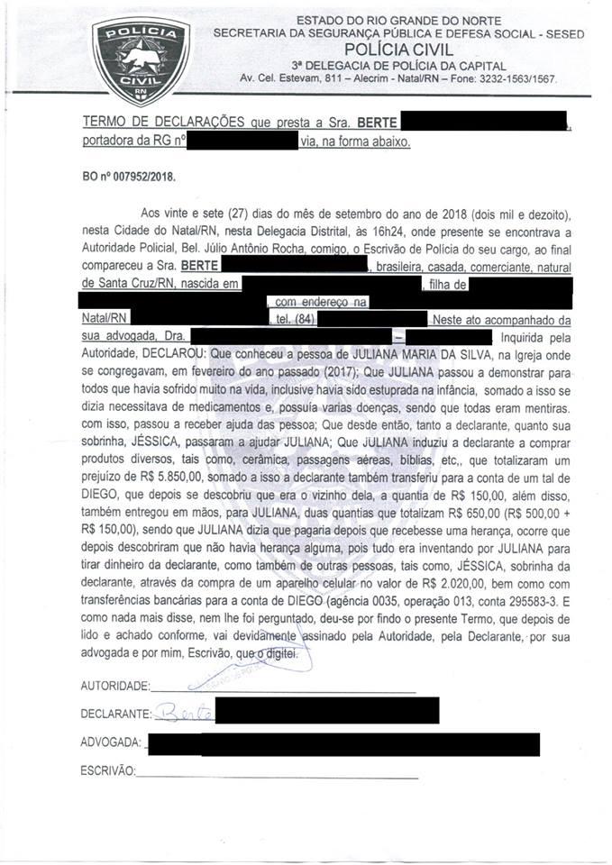 49786020 1292309217577360 1179229605223989248 n - Após ser acusado de assédio, pastor potiguar denuncia fiel à Polícia Civil por estelionato