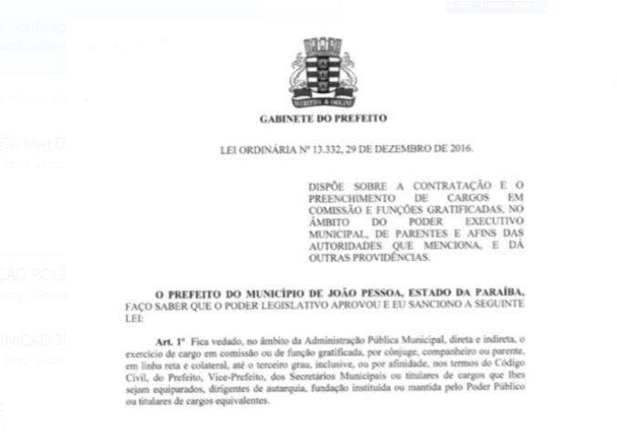 Capturarui - LUCÉLIO NA PMJP: 'É no mínimo um deslize na moralidade. O prefeito infringe a própria lei', diz Bruno Farias