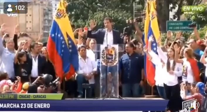 JUAN GUADÓ PRESIDENTE VENEZUELA PP - VEJA VÍDEO: Líder opositor da Venezuela se declara presidente interino e é reconhecido pelos EUA
