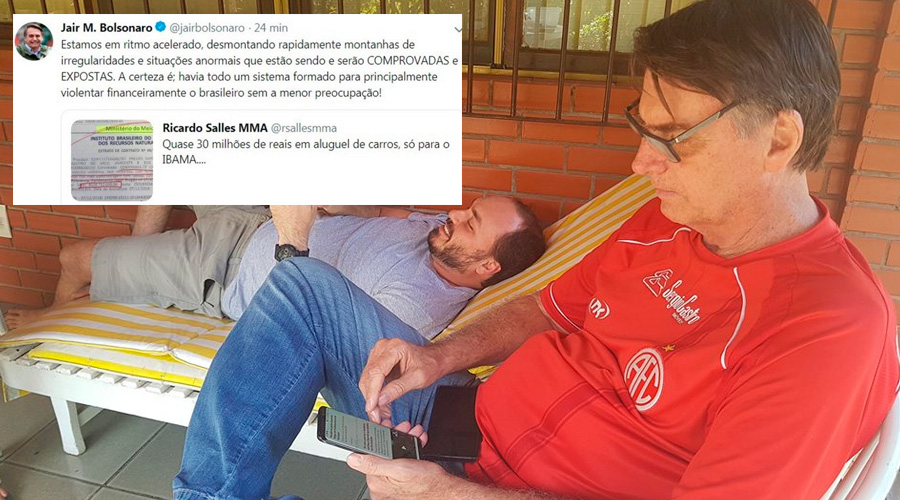 bolsonaro whatsapp - Bolsonaro critica Ibama, apaga tuíte e presidenta do órgão rebate: 'completo desconhecimento'
