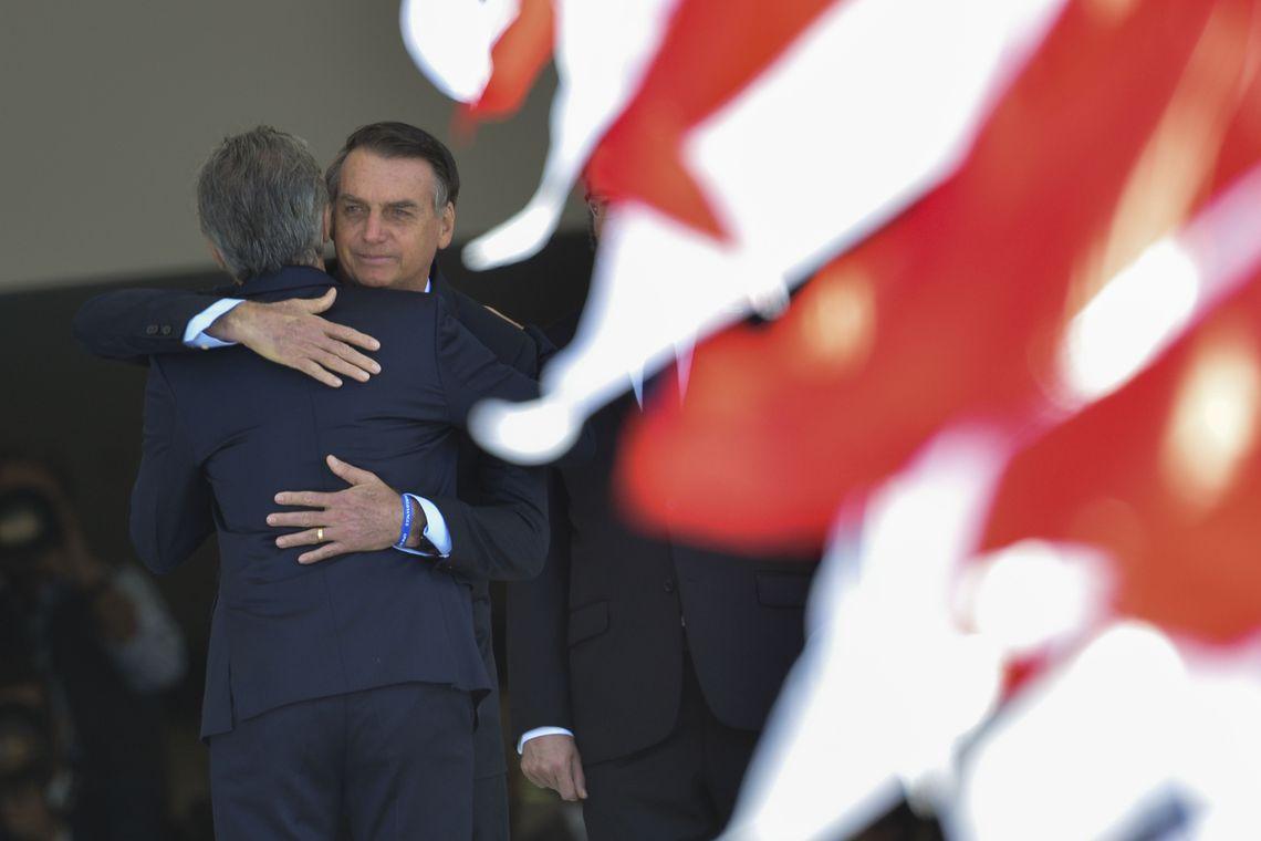 dsc 1634df - ACORDOS BILATERAIS: Macri é recebido no Planalto por Bolsonaro