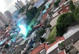 Vídeo mostra explosão e fogo em rede elétrica na zona de sul de SP