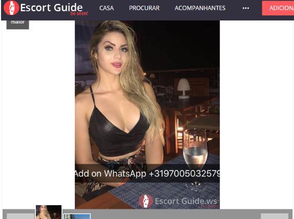 site - Ex-namorada de ex-deputado aparece com anúncio ousado em site de acompanhantes de luxo