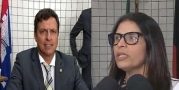 victor hugo e geusa 300x151 - DENÚNCIA EM CABEDELO - Vitor Hugo diz: 'Geuza recebia 50% dos salários dos contratados por ela'