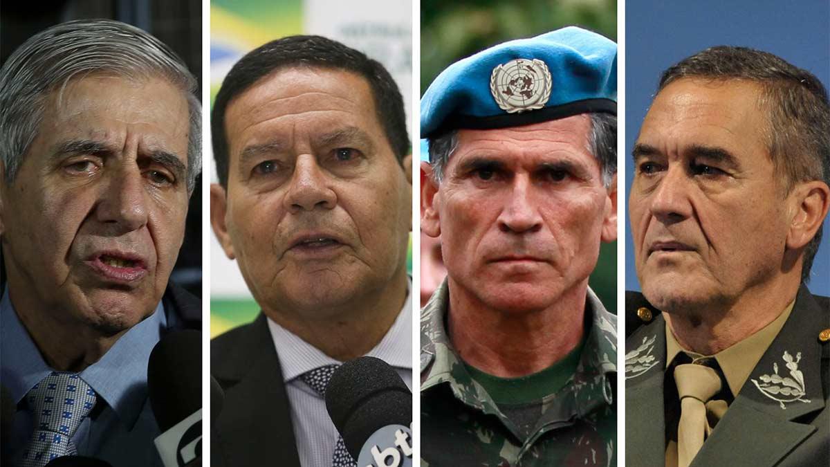 MILITARES - JUNTA MILITAR ASSUME O PODER: Heleno, Mourão, Cruz e Villas-Bôas -Por Mauro Lopes