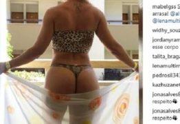 Primeira-dama paraibana chama atenção nas redes sociais com fotos na praia