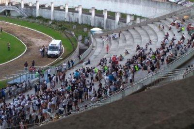 arquibancada almeidao - Almeidão passa por vistoria e pode ter arquibancada interditada, após incidente com torcedor