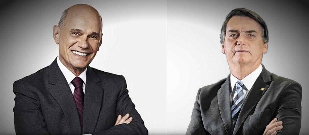 bolsonaro e boechat - Bolsonaro fala em 'amizade de 30 anos' com Ricardo Boechat