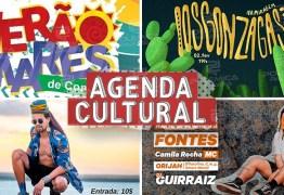 AGENDA CULTURAL: Confira os eventos que movimentam o fim de semana em João Pessoa; VEJA VÍDEO