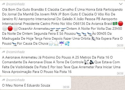 voo - SUSTO: chuva forte faz piloto arremeter aeronave nesta madrugada ao chegar no Castro Pinto
