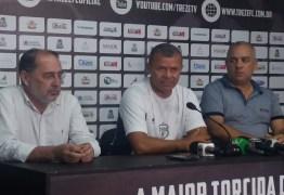 """Marcinho Guerreiro fala em """"grande oportunidade"""" ao ser apresentado como técnico do Treze"""