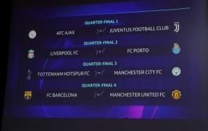 2019 03 15t111907z 414414622 rc17be40e860 rtrmadp 3 soccer champions draw 300x189 - Juventus encara Ajax, e Barcelona enfrenta United nas quartas de final da Liga dos Campeões