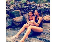 Grazi Massafera e filha, Sofia, se divertem em cachoeira: 'Valor dos momentos'