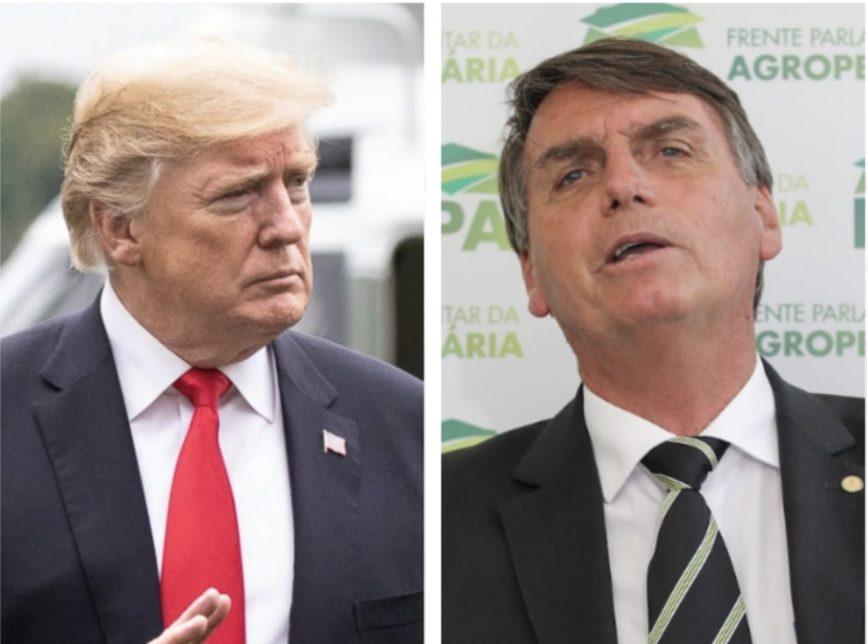 Trump e Bolsonaro 868x644 - Durante encontro Bolsonaro e Trump teriam discutido reabertura dos cassinos no Brasil