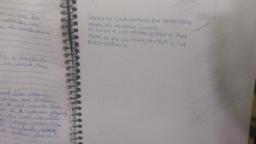 cad - Caderno de autor do massacre em Suzano tem amor por arma e palavras de ódio
