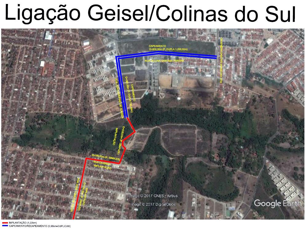 der via alternativa Geisel Colinas - Governo do Estado vai construir vias alternativas de ligações em bairros da zona sul