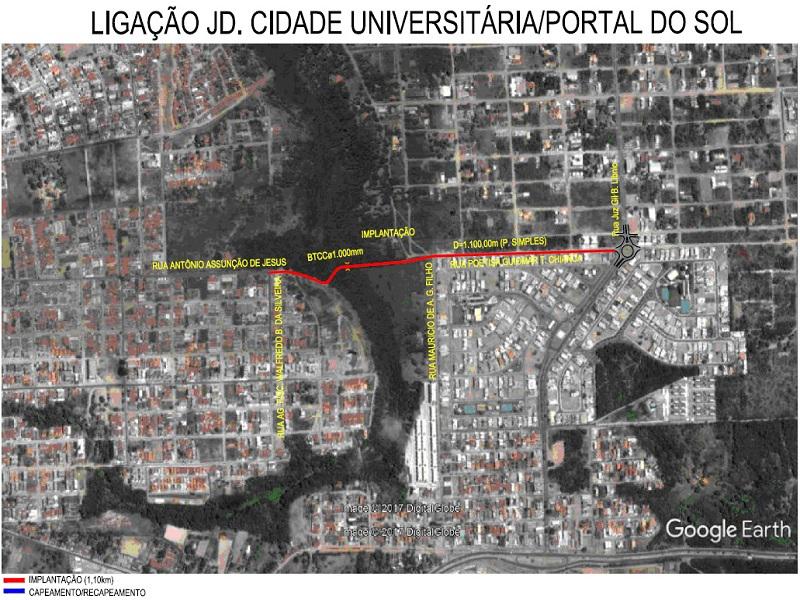 der via alternativa JD Cidade Portal do Sol - Governo do Estado vai construir vias alternativas de ligações em bairros da zona sul