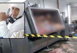 Homem morre ao cair em máquina de moer carne