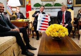 Chanceler tem ataque de fúria com presença de Eduardo Bolsonaro em reunião privada entre presidentes no Salão Oval