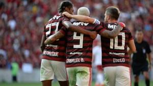 flamengo bruno henrique gabigol diego comemoram gol flaflu divulgacao alexandre vidal 1280x720 300x169 - Flamengo vence o Fluminense em jogo movimentado, e rivais se reencontrarão na semi
