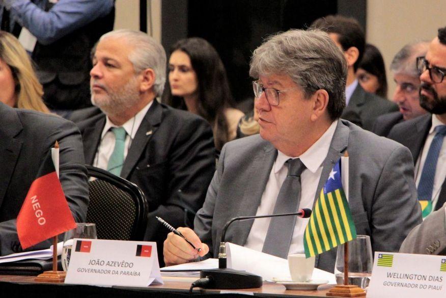 joao azevedo em forum 20 de fevereiro 2019 - EM BRASÍLIA: João Azevêdo participa de encontro de governadores com ministro da Economia