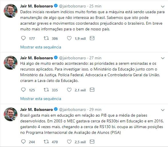 whatsapp image 2019 03 04 at 070614 - 'LAVA-JATO DA EDUCAÇÃO': Bolsonaro aciona PF, CGU, MEC e Ministério da Justiça para investigar aplicação de recursos públicos